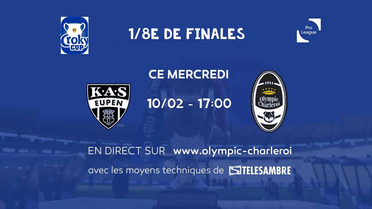 Crocky Cup: Eupen-Olympic en direct sur le site des Dogues