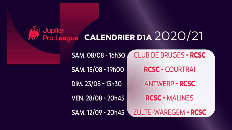 Calendrier sporting 2020 2021