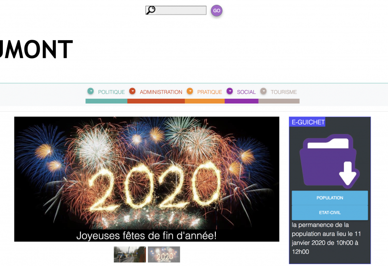 Beaumont: lifting pour le site web