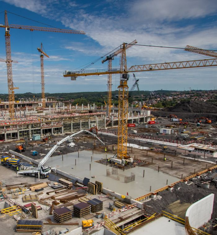 La construction du Grand Hopital de Charleroi se poursuit